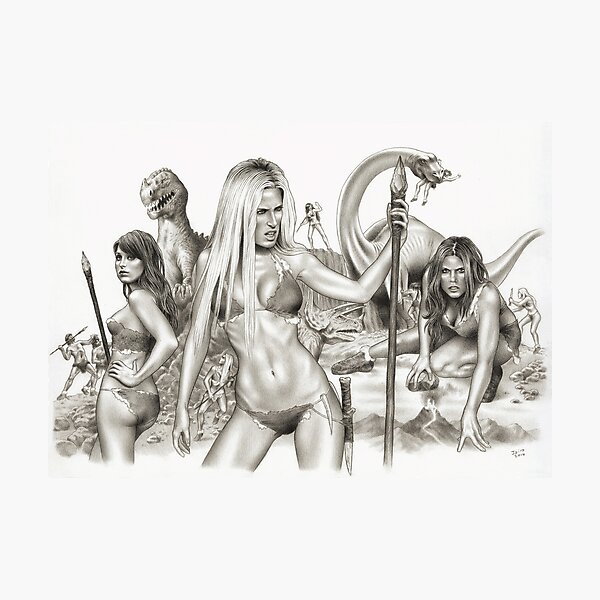Cave Girls On The Lost World Photographic Print