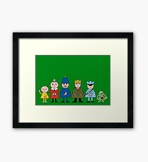 NDVH Bod and friends Framed Print