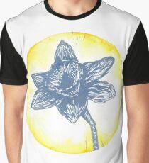 Daffodil Birth Flower - March - Blue Graphic T-Shirt