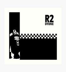 Dtone (black on white version) Art Print