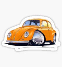 VW Beetle Orange Sticker
