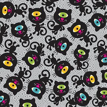 Black cats by panova