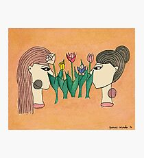 Women & Flowers: Two Lips Photographic Print