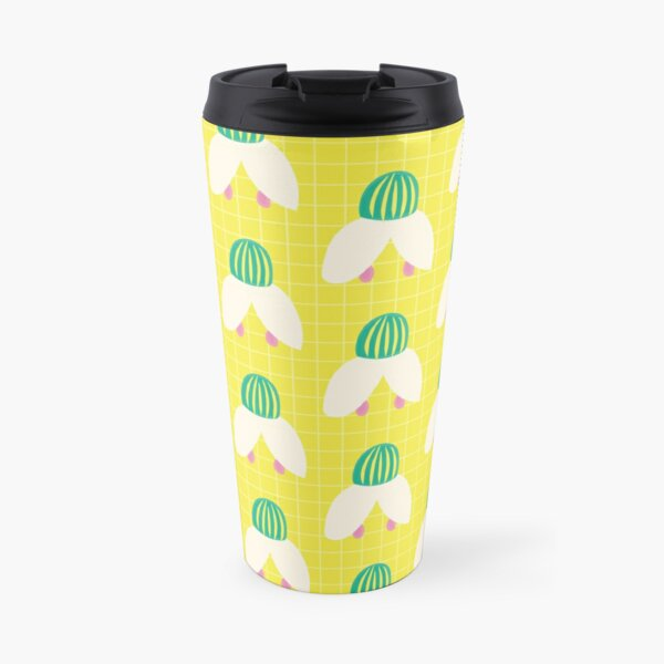 Spring Snowdrop Flowers Abstract Pattern Travel Mug