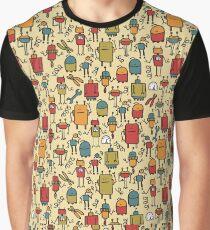 Retro robots Graphic T-Shirt