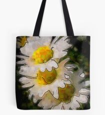 Watercolor Daisys Tote Bag