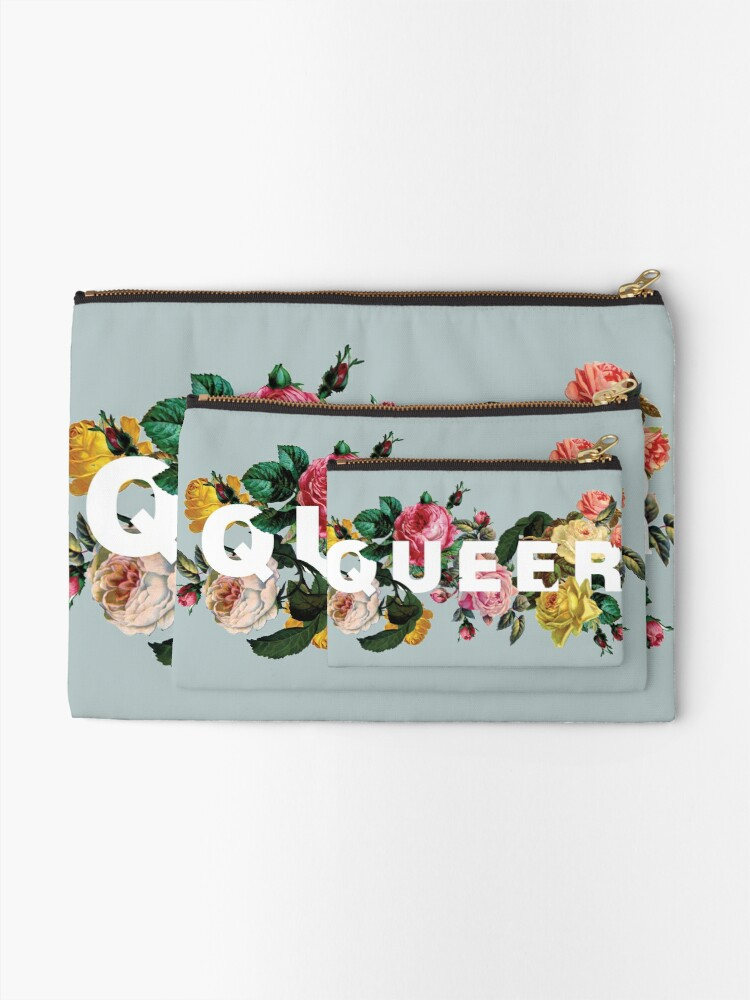 Alternate view of Queer (Antique Roses) Zipper Pouch