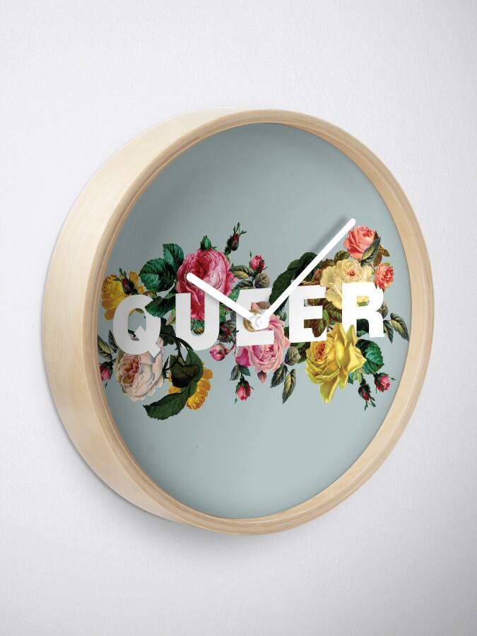 Alternate view of Queer (Antique Roses) Clock