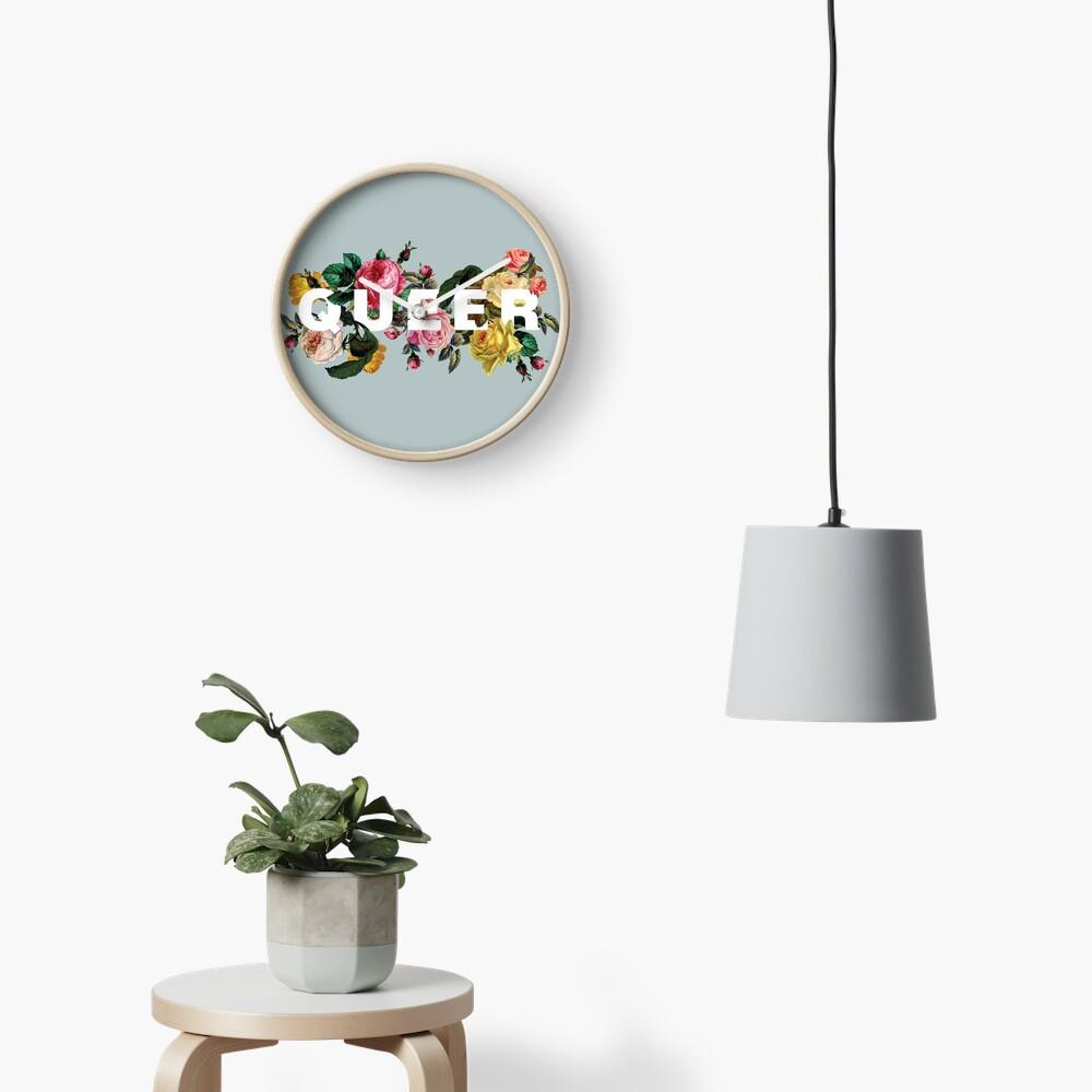 Queer (Antique Roses) Clock