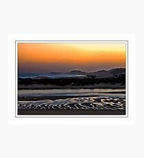 Red Evening Photographic Print