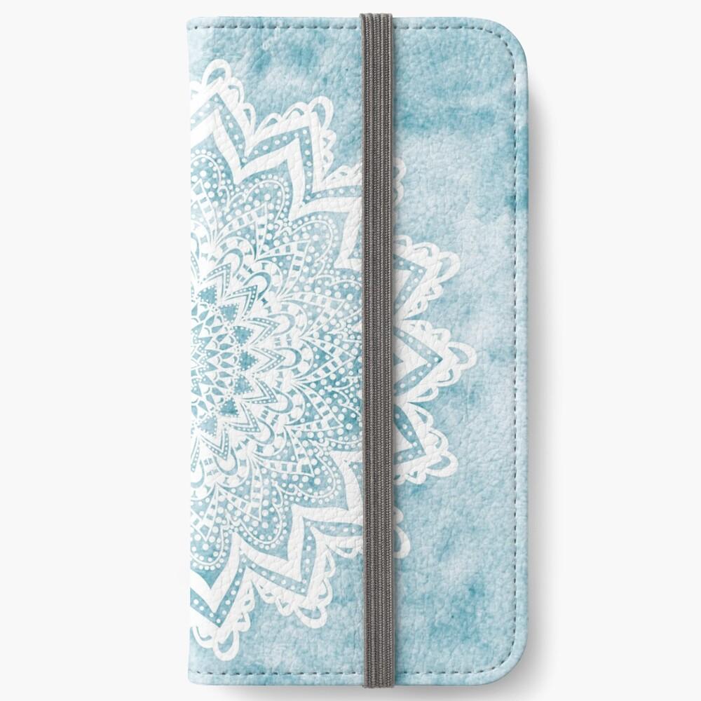 MANDALA SAVANAH LIGHT BLUE iPhone Wallet