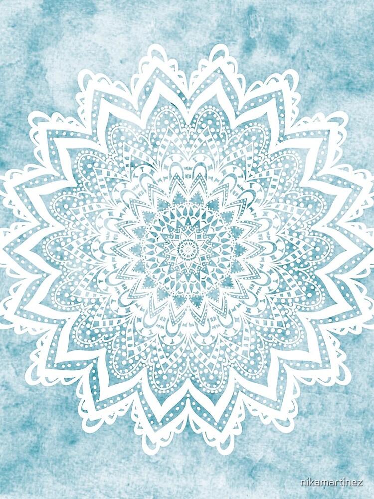 MANDALA SAVANAH LIGHT BLUE by nikamartinez
