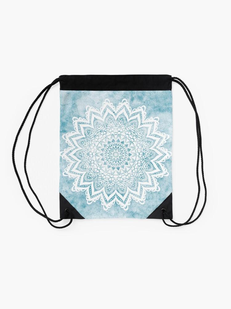 Alternate view of MANDALA SAVANAH LIGHT BLUE Drawstring Bag