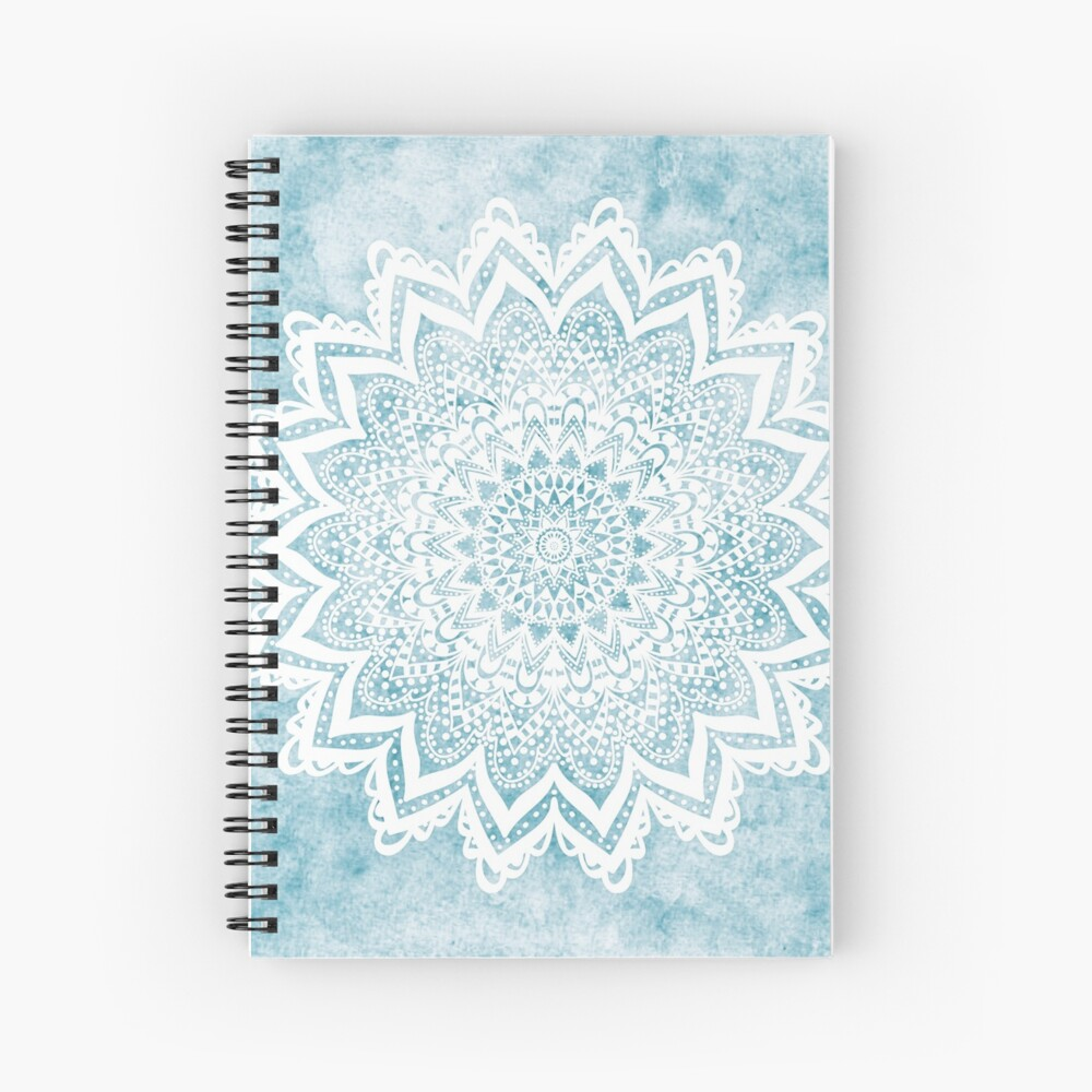 MANDALA SAVANAH LIGHT BLUE Spiral Notebook