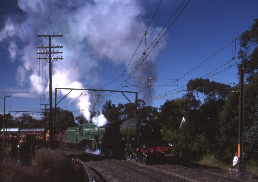 Flying Scotsman & 3801,Blue Mountains,Australia 1989 by muz2142