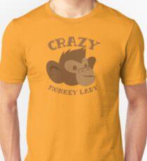 Crazy Monkey Lady (New face) Unisex T-Shirt