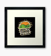 electric thunder Framed Print