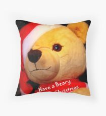 Have a Beary Merry Christmas Throw Pillow