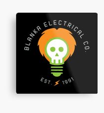 blanka electrical co. Metal Print