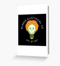 blanka electrical co. Greeting Card