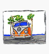 Vw bus ... re1 Photographic Print