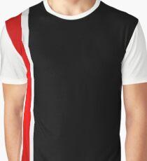 Thin stripe broken Graphic T-Shirt