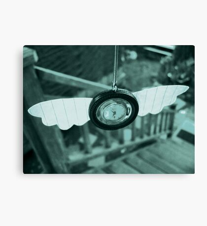 Time Flies With Paper Wings Canvas Print