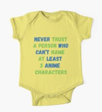 Funny Anime Manga Never Trust A Person One Piece - Short Sleeve