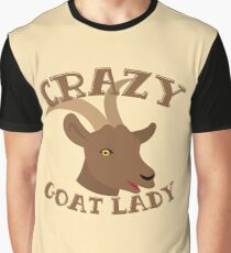 Crazy Goat Lady (new face) Graphic T-Shirt