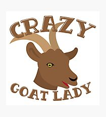Crazy Goat Lady (new face) Photographic Print