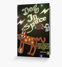 Dog In Space T-shirt Design Greeting Card