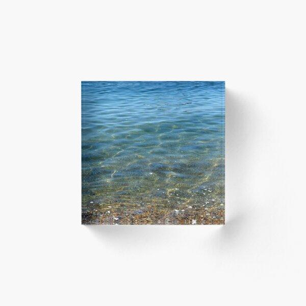 Blissful Blue  Acrylic Block