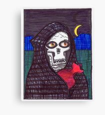 Grim Reaper Feels A Little Chilly April 2017 Canvas Print