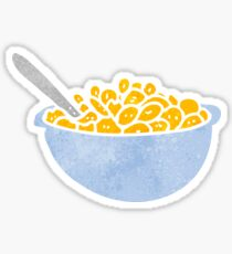 retro cartoon bowl of cereal Sticker