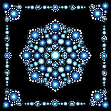 Dot, Art, Mandala, Blue Dots, Stone Art by lavalova