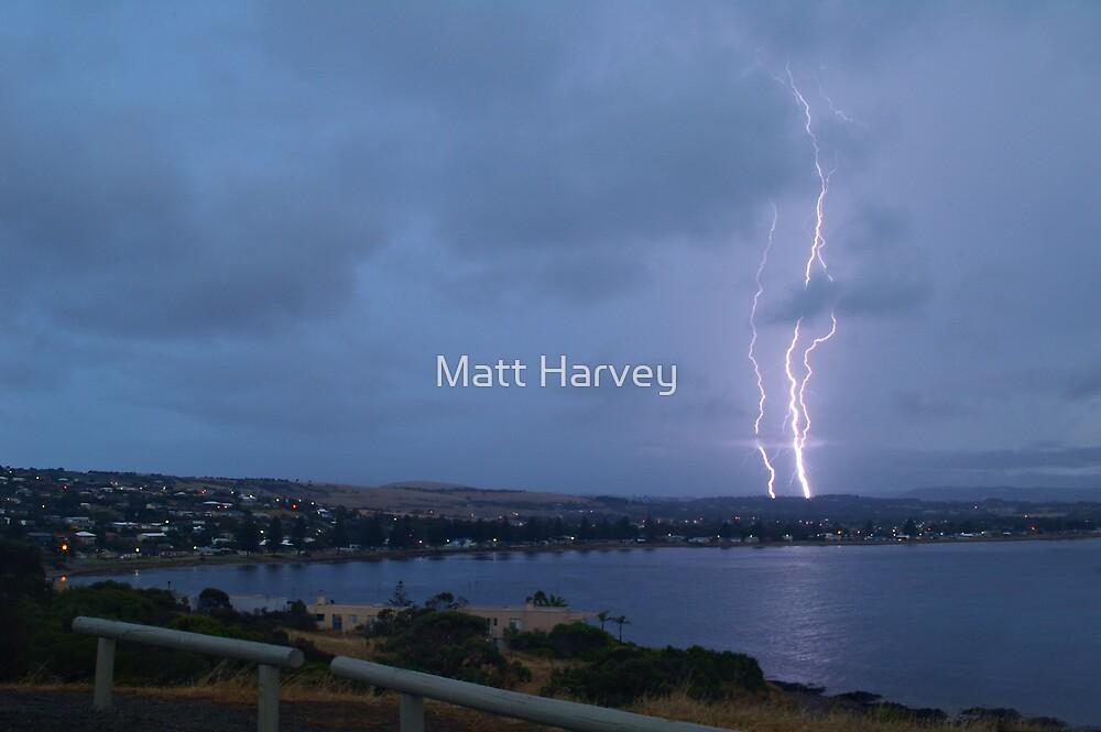 Lightning over Encounter Bay by Matt Harvey