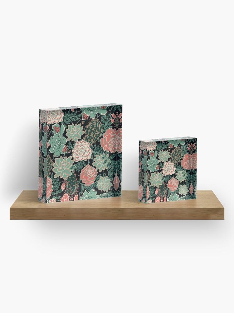 Alternate view of succulent Acrylic Block