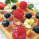 Breakfast Waffle & Fruit by TinaGraphics