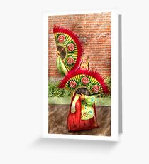Fan Dance Greeting Card
