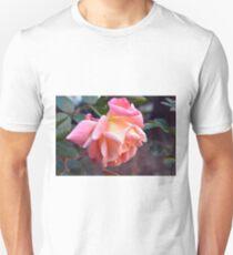 Pink orange rose in the garden Unisex T-Shirt