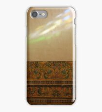 Colorful ray of light on a painted wall iPhone Case/Skin