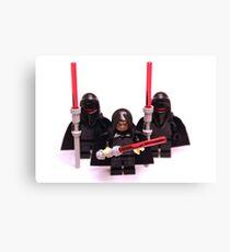 Lego Star Wars Emperor & Shadow Guards March Minifigure Canvas Print