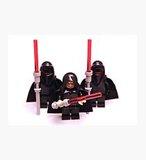 Lego Star Wars Emperor & Shadow Guards March Minifigure Photographic Print