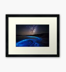 Milky Way Over Sea Sparkle Bay Framed Print