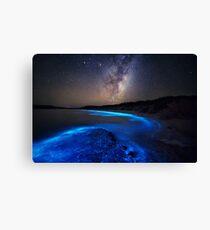 Milky Way Over Sea Sparkle Bay Canvas Print