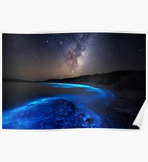 Milky Way Over Sea Sparkle Bay Poster