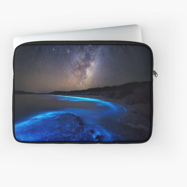 Milky Way Over Sea Sparkle Bay Laptop Sleeve