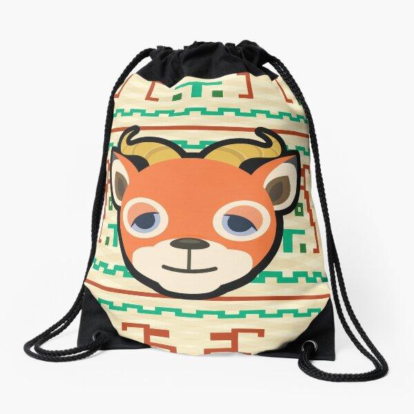 BEAU ANIMAL CROSSING Drawstring Bag