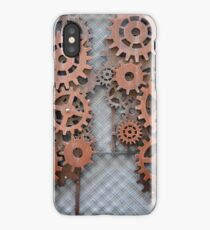 Steampunk arrangement with metal cogs iPhone Case/Skin