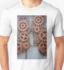 Steampunk arrangement with metal cogs T-Shirt